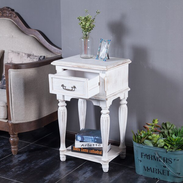 Exchange Wood End Table with Storage by August Grove