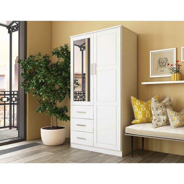 Derlyum Mirrored Wardrobe Armoire by Ebern Designs Ebern Designs