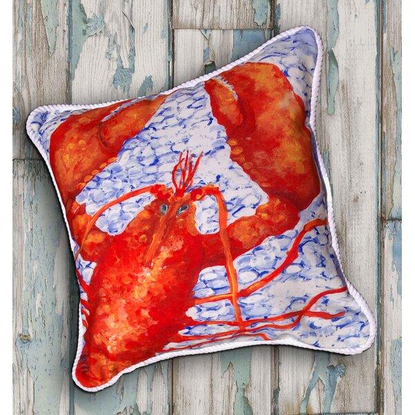 Lobster Indoor/Oudoor Throw Pillow by My Island