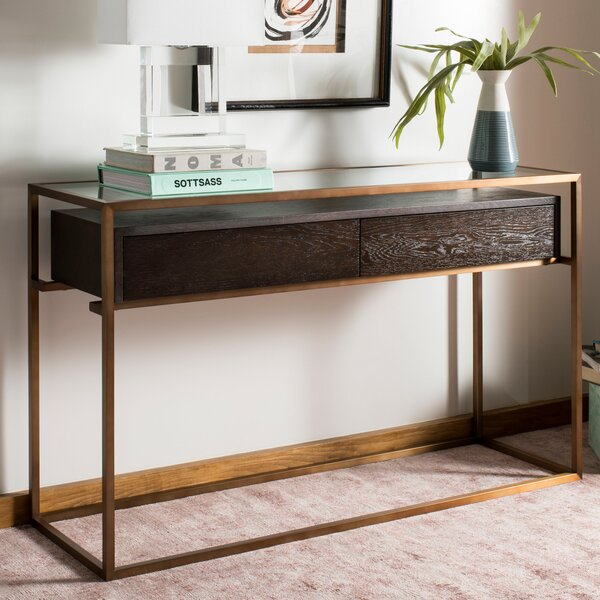 Lees Oak Console Table by Brayden Studio