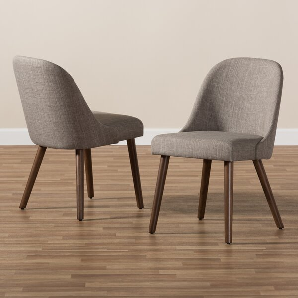 Croom Mid-Century Upholstered Dining Chair (Set of 2) by George Oliver George Oliver