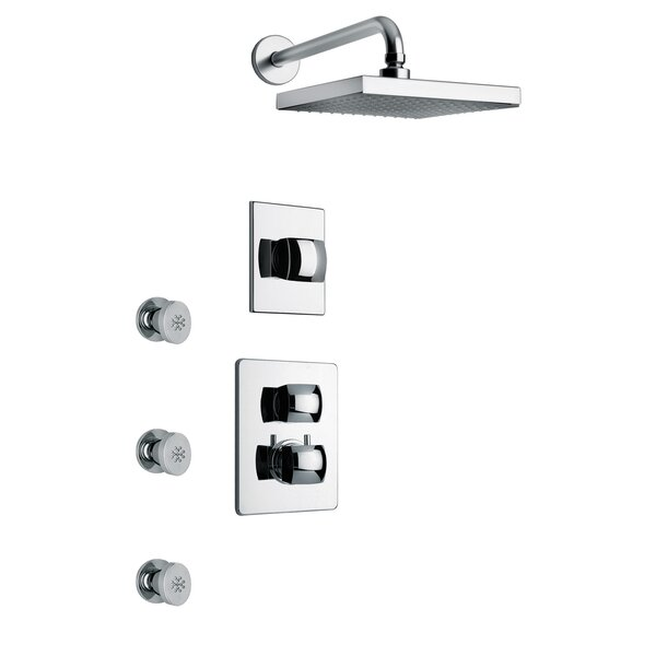 Lady Thermostatic Volume Control Rain Shower Head Complete Shower System by LaToscana