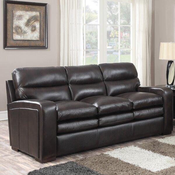 Womac Leather Sofa by Latitude Run