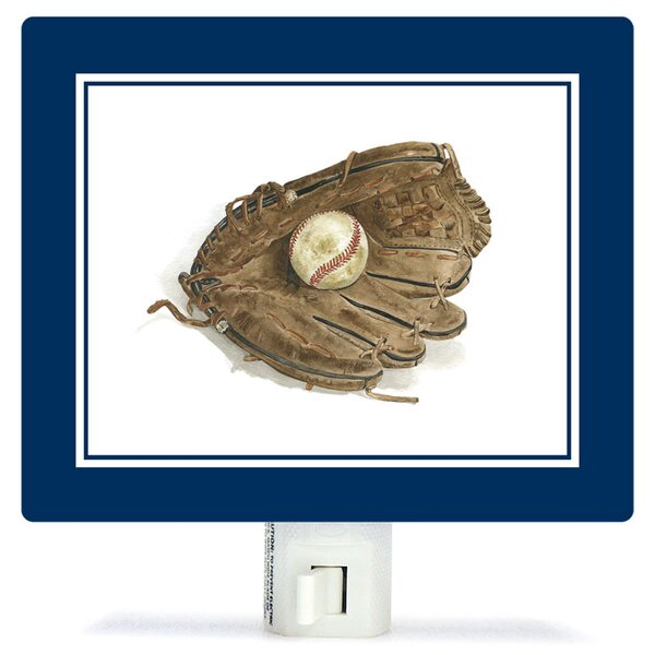 Non-Personalized Sports and Games Ball in Glove Canvas Night Light by Oopsy Daisy
