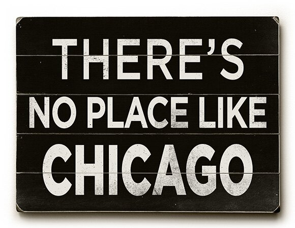 No Place like Chicago Textual Art Multi-Piece Image on Wood by Artehouse LLC