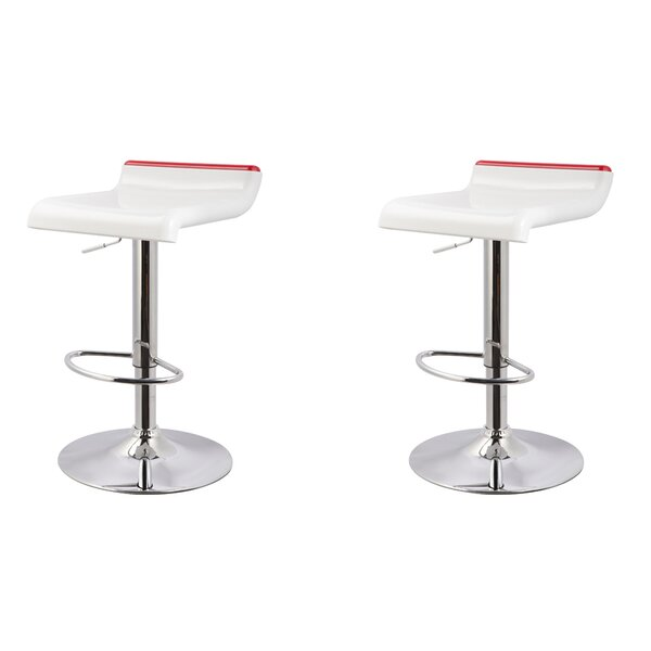 Adjustable Height Swivel Bar Stool (Set of 2) by Roundhill Furniture