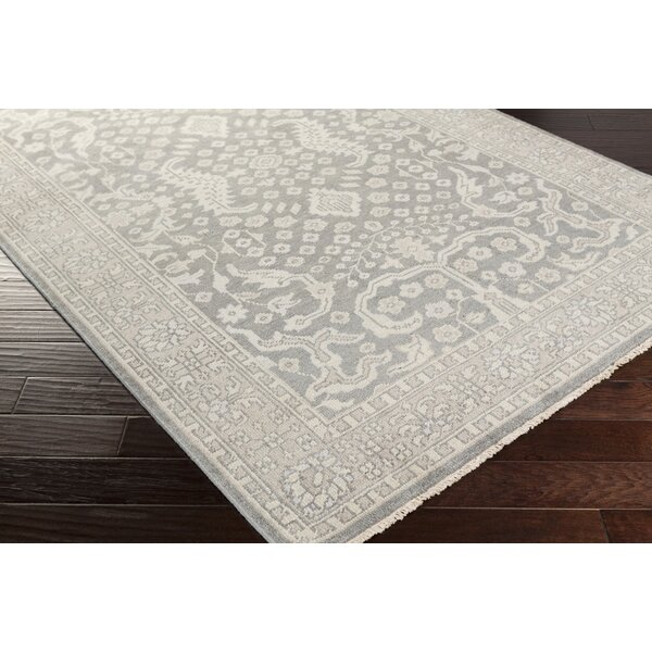 Karlee Hand-Knotted Medium Gray Area Rug by Laurel Foundry Modern Farmhouse