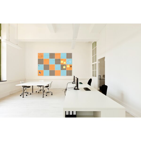 Mosaic Wall Mounted Magnetic Board by Best-Rite®