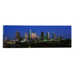 'Houston, Texas' Photographic Print on Canvas by East Urban Home