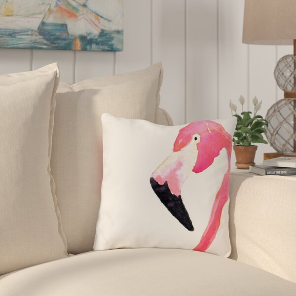 Longview Fabulous Flamingo Outdoor Throw Pillow by Bay Isle Home