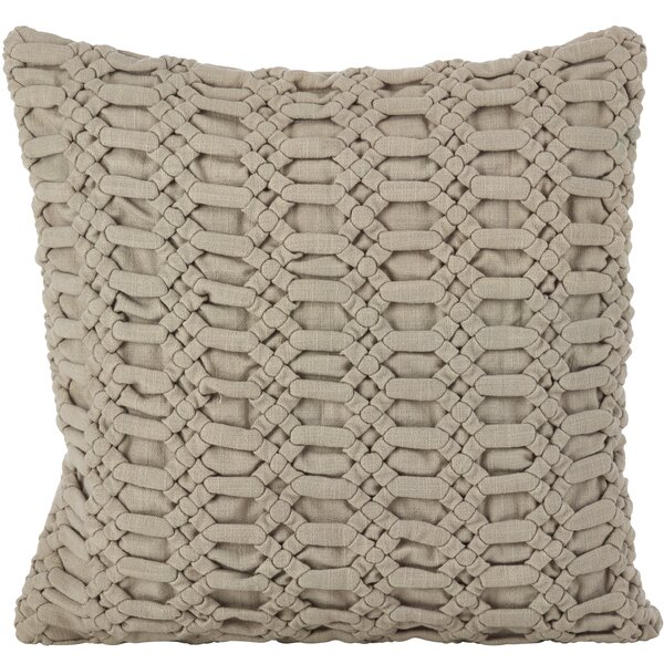 Kirby Smocked Textured Cotton Thow Pillow by Gracie Oaks