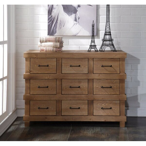 Whetsel Wooden 9 Drawer Double Dresser by Loon Peak