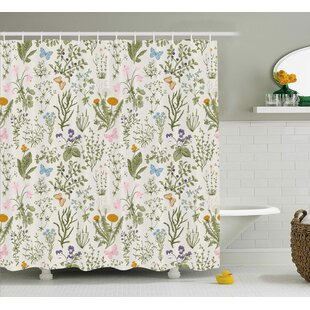 Buying Menthe Herbs Flowers Shower Curtain By August Grove