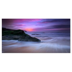 Slow Motion Waves on Winch Beach Photographic Print on Wrapped Canvas by Design Art