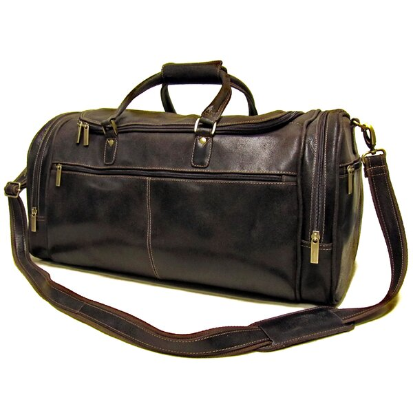 21 Distressed Leather Travel Duffel by Le Donne Leather