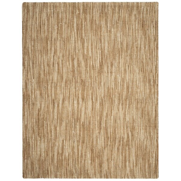 Omorfo Hand-Woven Natural/Cream Area Rug by Bay Isle Home