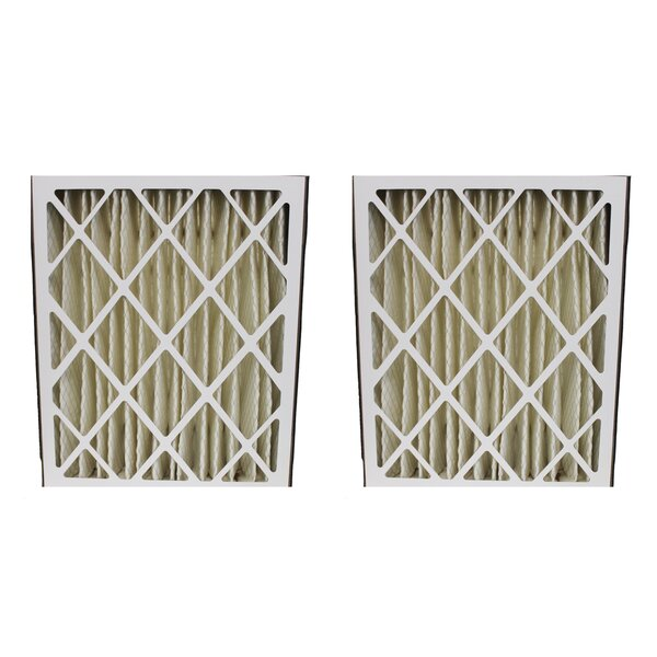 Amana Pleated Furnace Air Filter (Set of 2) by Crucial