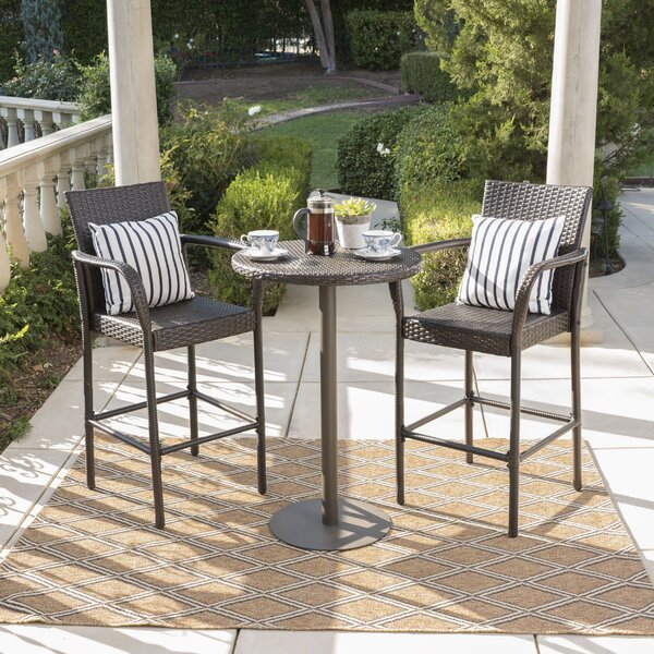 Waldhaus 3 Piece Bar Height Dining Set by Ivy Bronx