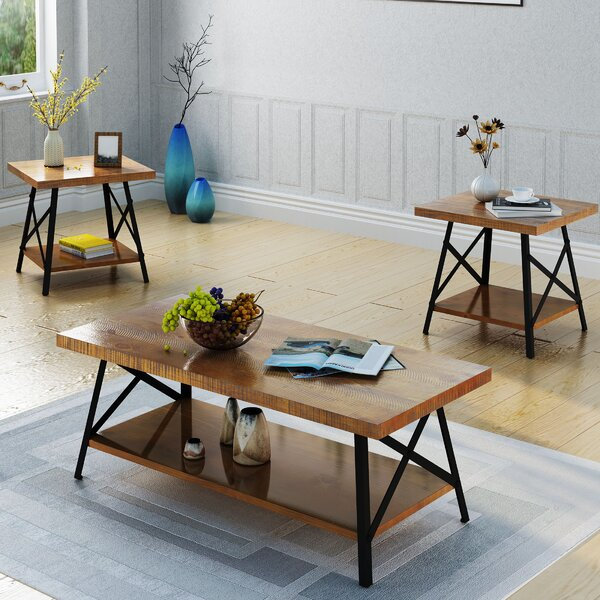 Ellefson 3 Piece Coffee and End Table Set by 17 Stories