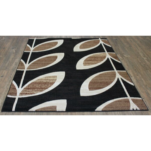 LifeStyle Black/Beige Area Rug by Rug Factory Plus
