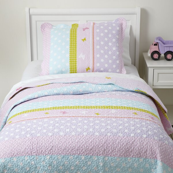 Pretty Polka Quilted Bedding Set By Birch Lane Kids.