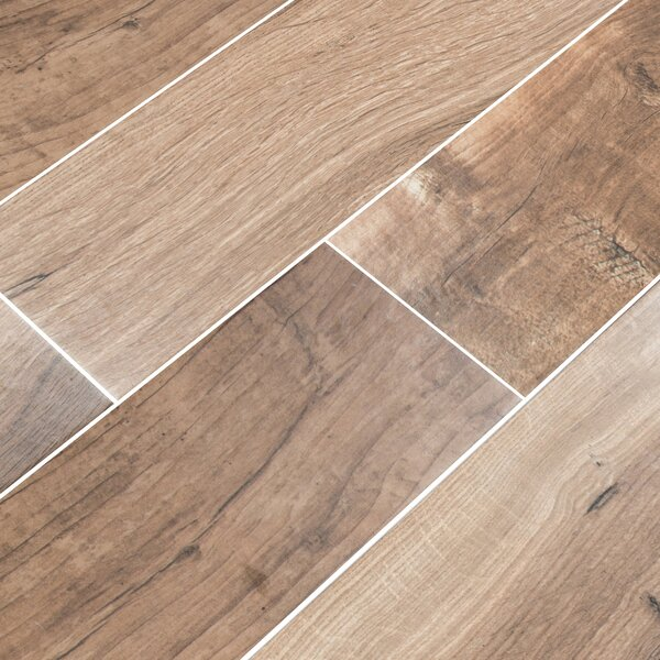 Palmetto Cognac 6 x 36 Porcelain Tile Wood Look in Brown by MSI