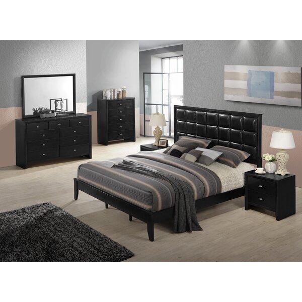 Gloria Platform 6 Piece Bedroom Set by Roundhill Furniture
