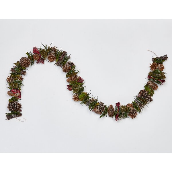 66 Mixed Cones Twigs Berries Garland by The Holiday Aisle