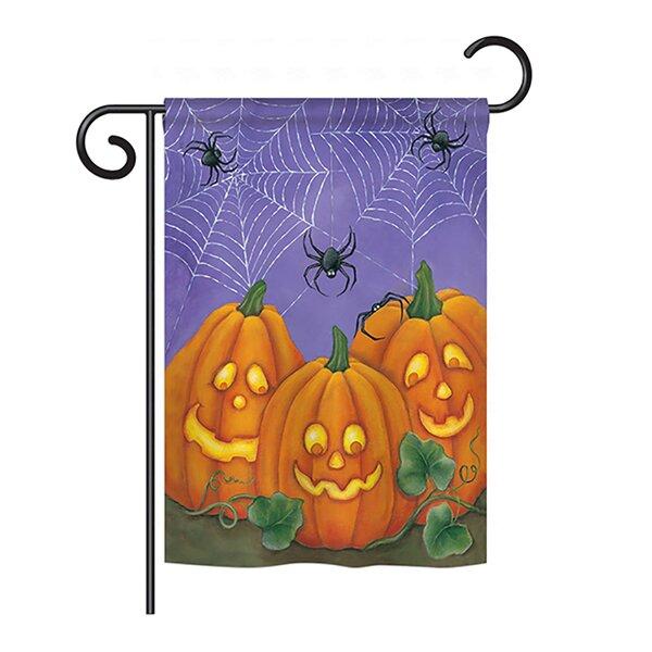 3 Pumpkins 2-Sided Vertical Flag by Breeze Decor