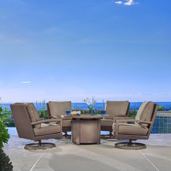 Hampton 5 Piece Sunbrella Complete Patio Set with Cushion by Winston