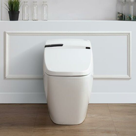 Bernard 1.6 GPF Elongated One-Piece Toilet with Touchless Flush by Ove Decors
