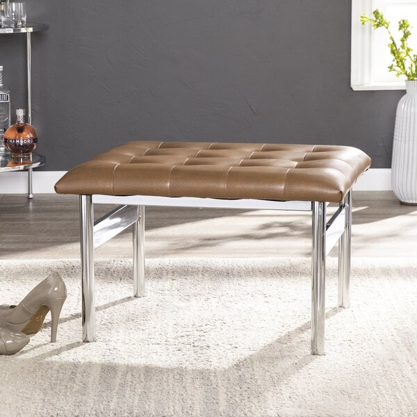 Durkee Faux Leather Bench by Orren Ellis