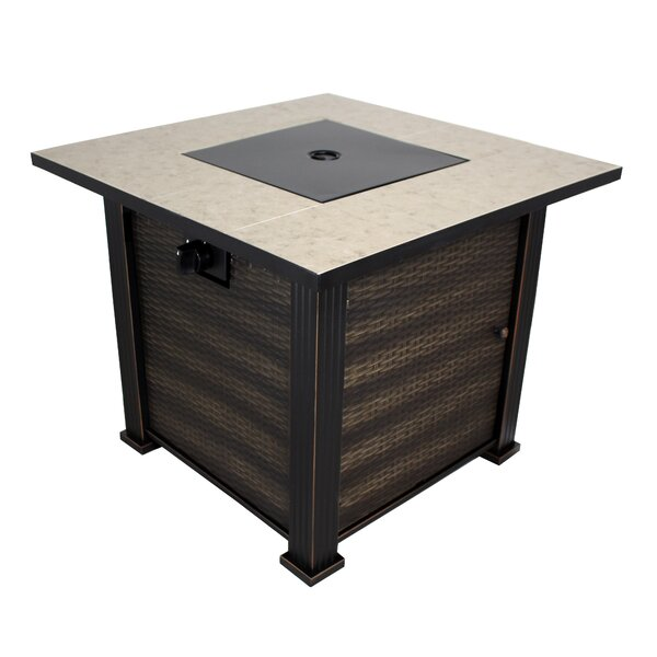 New Haven Steel Propane Gas Fire Pit Table by California Outdoor Designs
