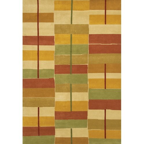 Caines Gold/Red Area Rug by Fleur De Lis Living