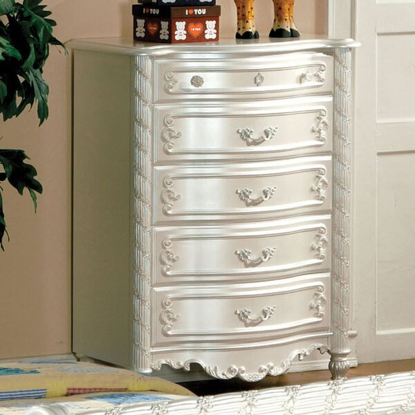 #1 Victoria 5 Drawer Standard Dresser/Chest By Hokku Designs Wonderful