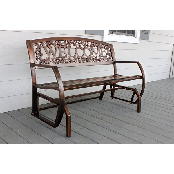 Welcome Double Glider Bench by Leigh Country