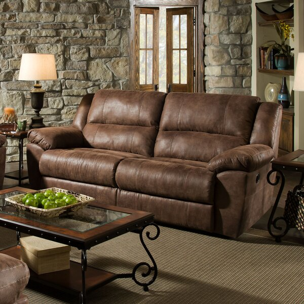 Umberger Contemporary Double Motion Reclining Sofa by Simmons Upholstery by Loon Peak