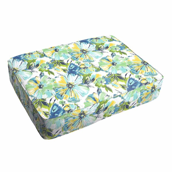 Shoffner Floral Piped Indoor/Outdoor Ottoman Cushion by Andover Mills