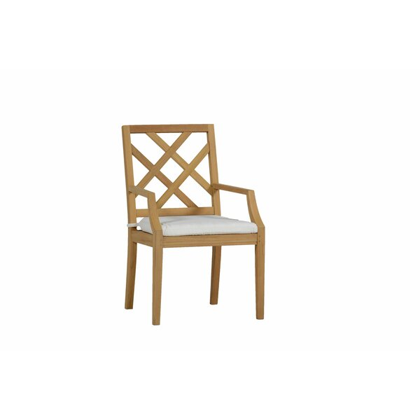 Haley Teak Patio Dining Chair with Cushion by Summer Classics