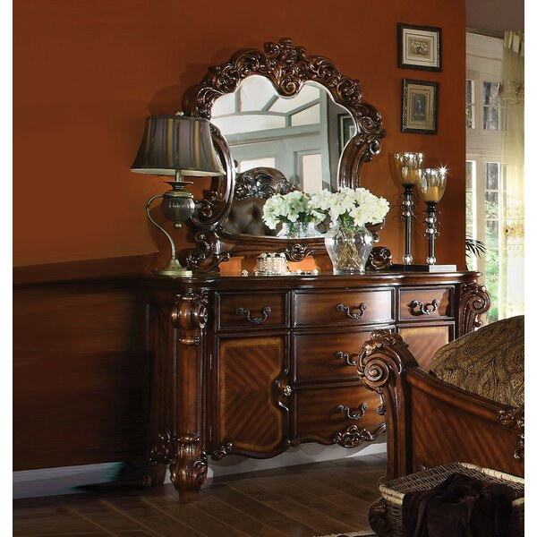 Dilbeck 5 Drawer Combo Dresser with Mirror by Astoria Grand