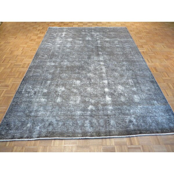 One-of-a-Kind Padro Hand-Knotted Light Gray Area Rug by Bloomsbury Market