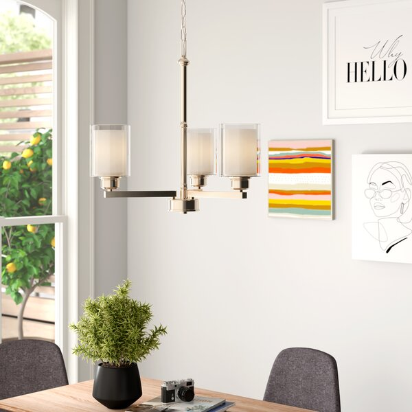 Craig 3 - Light Shaded Classic / Traditional Chandelier By Zipcode Design