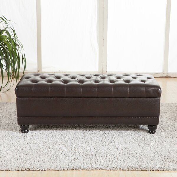 Luxury Comfort Upholstered Storage Bench by Bellasario Collection