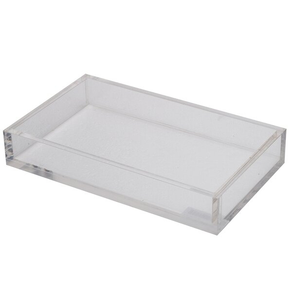 Nickelsville Acrylic Rectangular Serving Tray by Wade Logan
