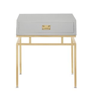 Best Krupa End Table with Storage By Everly Quinn