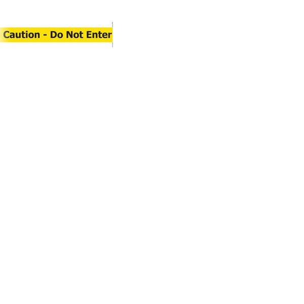Green Tensacone Topper with Caution - Do Not Enter Belt by Tensator
