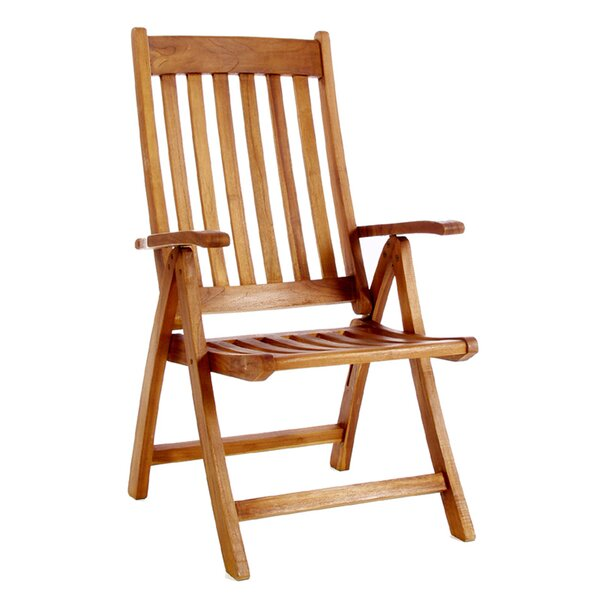 Humphrey Folding Teak Patio Dining Chair by Longshore Tides