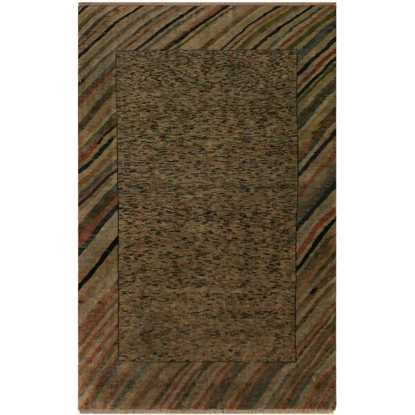 One-of-a-Kind Hillhurst Overdyed Color Reform Hand-Knotted Wool Gray/Rust Area Rug by Bloomsbury Market