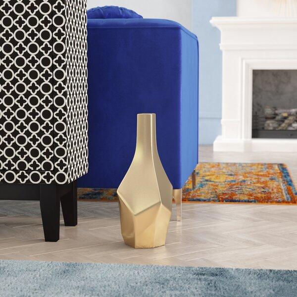 Glam Golden Floor Vase by Willa Arlo Interiors