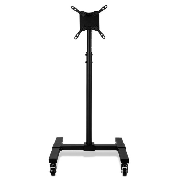 TV Floor Portable Pedestal Display Height Adjustable Fixed Stand Mount 13 - 42 LCD/LED with Wheels by Mount-it